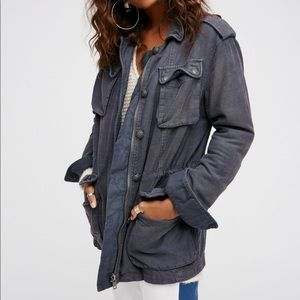 Free People Not Your Brother's Surplus Jacket L